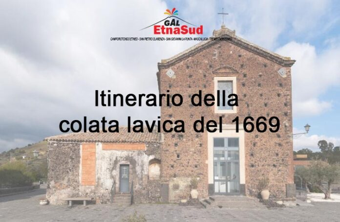 Itinerario della colata lavica del 1669